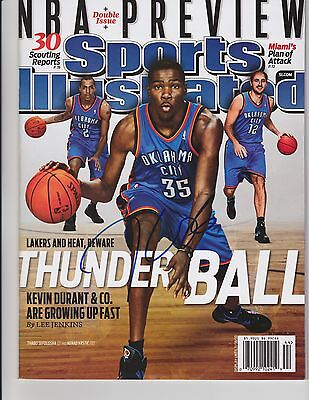 Kevin Durant Signed Auto Si Sports Illustrated Thunder Nl Warriors Mvp Roy