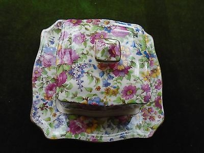"""Vintage Royal Winton """"summertime"""" Butter Dish Perfect For Teaset/teapot/wedding"""
