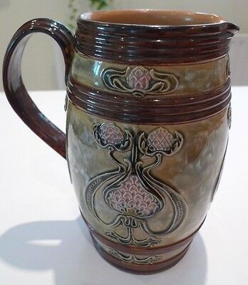 Royal Doulton Art Nouveau Jug by Rosina Brown c1910 Impressed No 1953, marked RB