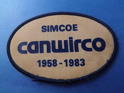 Canada Wire Company Simcoe Ontario Vintage Patch Collector Employee Badge