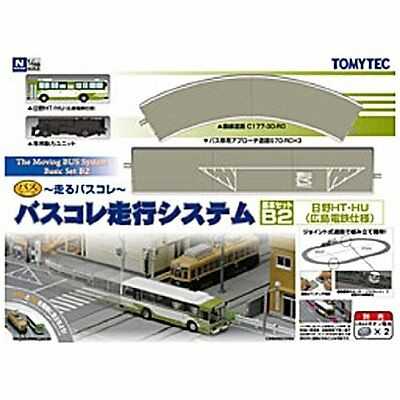 Moving Bus System Basic Set B2 1/150 N scale Tomytec Japan with Tracking