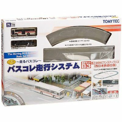 Moving Bus System Basic Set B3 Red Bus 1/150 N scale Tomytec Japan Tracking