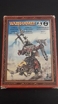 GAMES WORKSHOP Warhammer OOP - GORBAD IRONCLAW METAL in ORIGINAL BOX