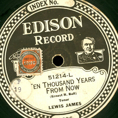 LEWIS JAMES Ten thousand Years from now / MALE QUARTET    EDISON RECORD S4438