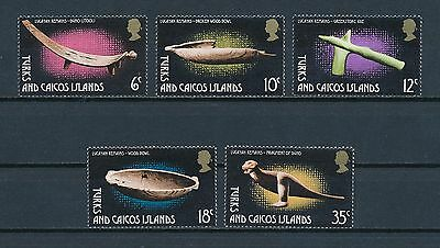 Turks & Caicos Islands  288-92 MNH, Lucayan Artifacts, 1974