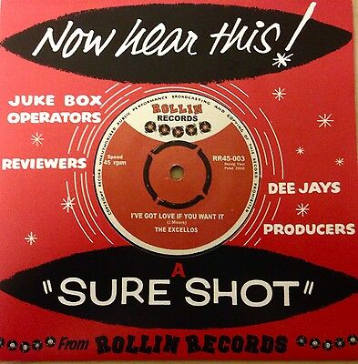 The Excellos - I've Got Love If You Want It - Rollin' Records - Rockin' Blues