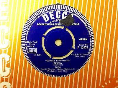 Rare Demo Promo - Gloria - Here Comes The Night - Them - Decca - Van Morrison