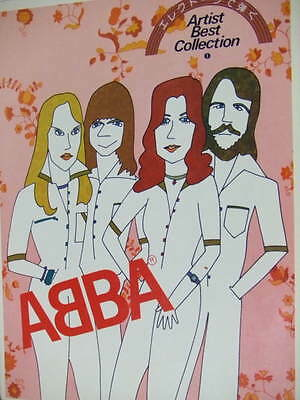 ABBA Best Collection Vol.1 Electone Music book photo vintage