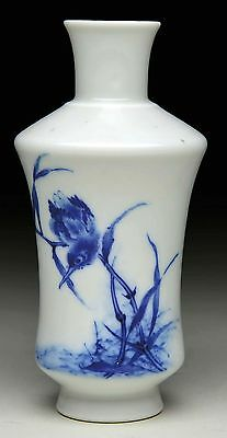 An antique Chinese blue and white porcelain vase, WANG BU, Repuplic period