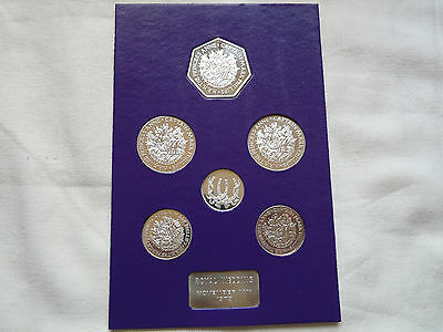 1973 Royal Wedding sterling silver medals, cased, approx 50 grams in total