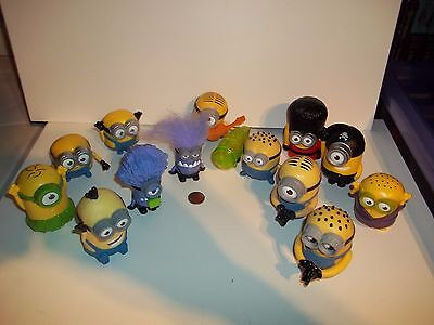 Set of 13 Different Minion Figures, McDonalds Bundle Lot, See Others, Minions