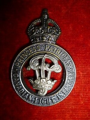 M4 - Princess Patricia's Canadian Light Infantry Cap Badge WW2, Type 3