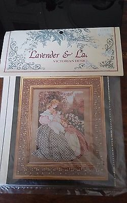 Vtg Morning Song Lavender & Lace cross stitch chart only