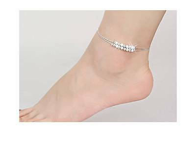 Sterling Silver 925 Anklet For Women Bracelet Foot Jewelry Anklets Leg Chain