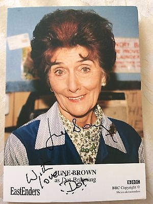June Brown - Dot Cotton Signed Eastenders Promo Card