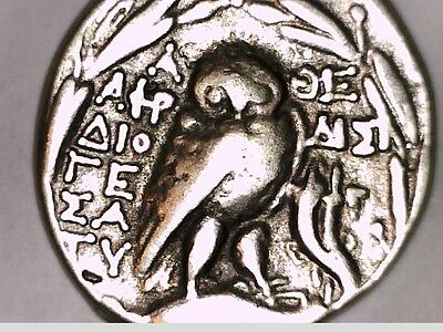 Ancient Greek Tetradrachm Silver Plated Attica ATHENS Owl Repro coin NEW STYLE