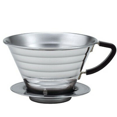 Kalita Wave Series 185 stainless steel Dripper  For 2 to 4 cup Made In Japan