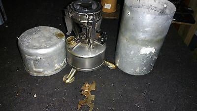 WWII Army Military Aladdin M1942 Single Burner Cooking Field Stove 1944 w Case