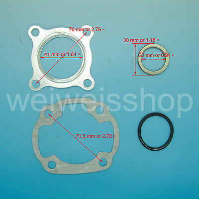 Top end gasket kits head cylinder gasket Chinese 2 stroke 1E40QMB Yamaha Jog 50