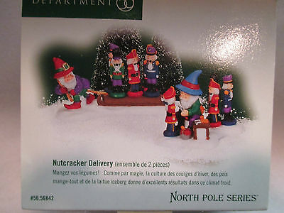 """Dept 56 North Pole  """"Nutcracker Delivery""""  #56 56842  FREE SHIPPING"""