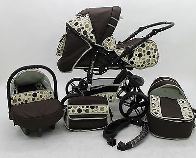 Baby Pram+Pushchair+Stroller+Buggy Optional Car Seat Travel System Foam Wheels