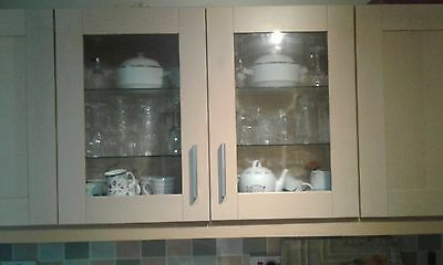 omega shaker maple kitchen units with appliances