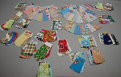13 Dresden Plate like Quilt Blocks Hand Sewn Makes 2 Full Circles Vintage Lot 2