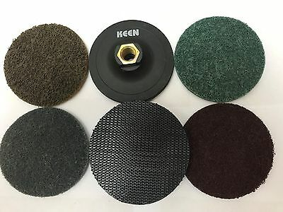 """Mixed Grade, KEEN-BRITE Surface conditioning H&L Disc Kit, 4"""", #54724"""