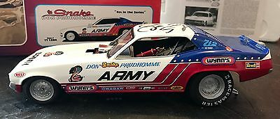 Floppers 1320 1/24 Diecast Don The Snake Prudhomme Army Nitro Funny Car Signed