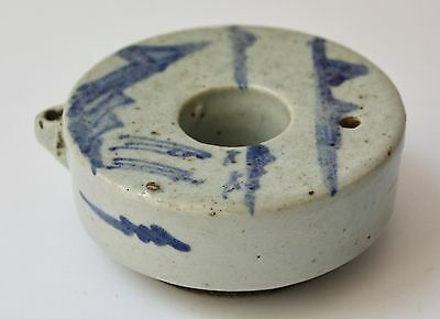 Antique scholar's object blue & white Water Dropper Ceramic, Korea Joseon Period
