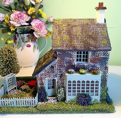 1:48, Quarter Scale, Handmade,Dolls House, Cottage With Garden