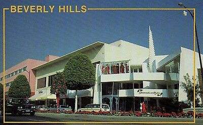 Old Postcard: BEVERLY HILLS,RODEO DRIVE, Los Angeles, United States