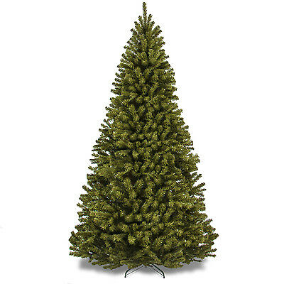 7.5 Ft. Premium Spruce Hinged Artificial Christmas Tree Holiday Decor With Stand