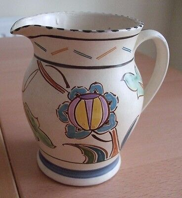 Honiton Pottery Hand Painted 1 & 1/2 pint large Jug in good condition