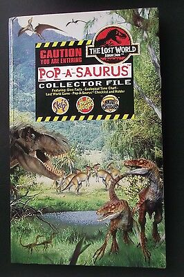Jurassic Park The Lost World Pop-A-Saurus Pop Up Dinosaur Collector File & Cards