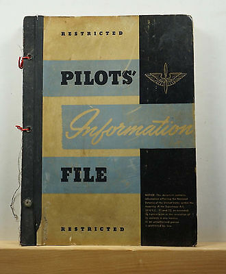Pilots' Information File August 1 1943 WWII US Army Air Forces USAAF Restricted
