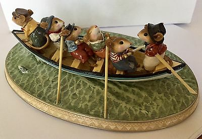 Wee Forest Folk Whale Boat In Special COLOR RARE & LIMITED Full Signature