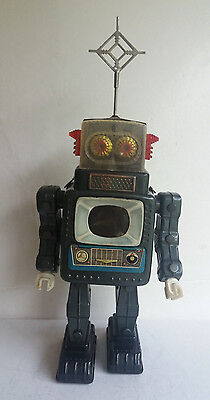 Alps Television Spaceman Robot battery operated, 1960's Japan-RARE and WORKS!!