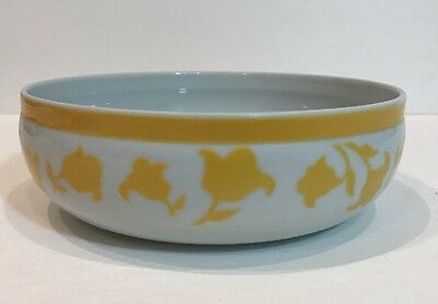 Block Hearthstone Ginger Vista Alegre 3 Pc Soup/Cereal Bowl Yellow Flowers Band