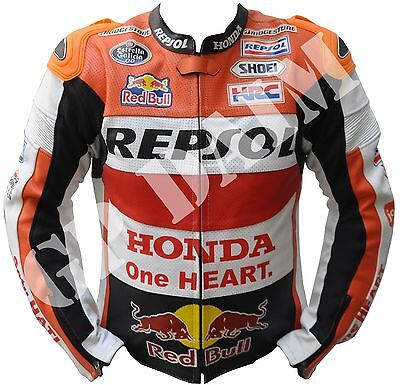 REPSOL Motorbike Leather Motorcycle Racing  Jacket 2015 One Heart HONDA motoGP