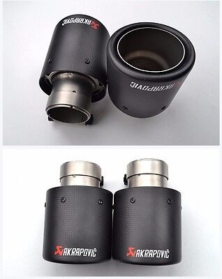 AKRAPOVIC 101mm Auspuff Blende Endrohr CARBON style tuning AUDI VW BMW MERCEDES