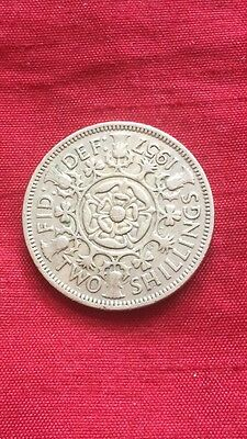 Queen Elizabeth II 1957 Florin / Two Shilling Coin