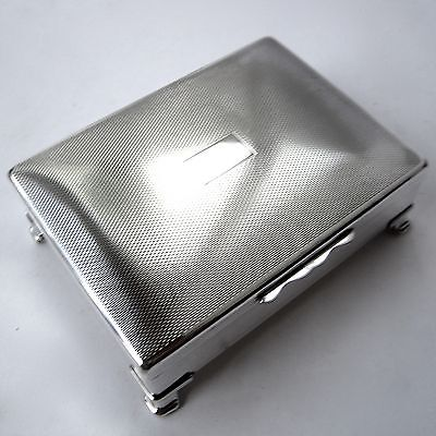Vintage Silver Plate Cigarette Box Aristocrat By Harman Brothers Footed