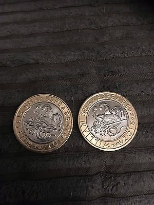 £2 coin shakespeare comedies  in tape sealed jiffy envelope's plz read
