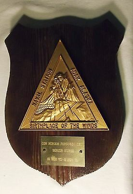Naval Station Adak Alaska 'Birthplace of the Winds' Service Plaque Dated 1971