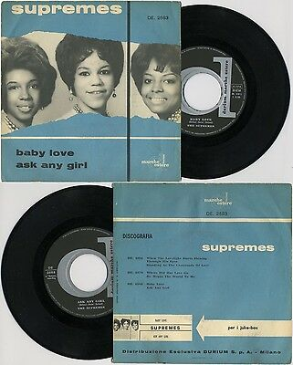 The SUPREMES - Baby Love/ Ask Any Girl  DURIUM DE 2583 - MOTOWN - Diana Ross