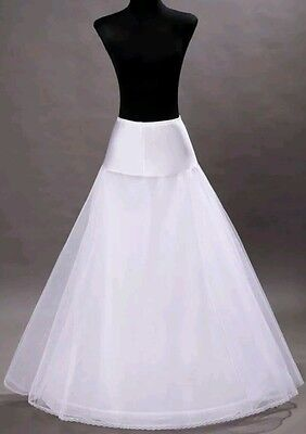 New White 1 Hoop A-Line Bridal Petticoat Size REGULAR