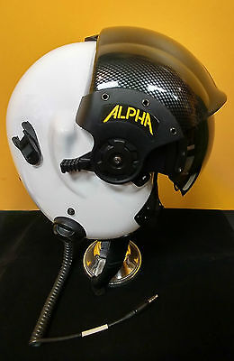 Alpha Eagle Helicopter Helmet Dual Visor (L) With Carrying Case