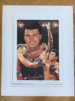 Original Limited Edition Signed Lithography Print Of The Late MUHAMMAD ALI 🏅