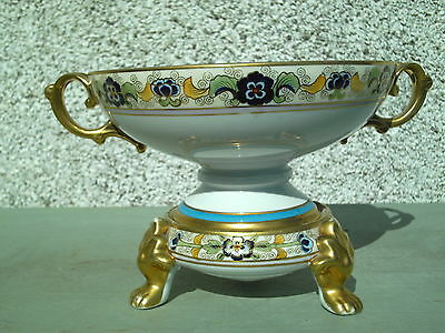 Rare Antique Noritake 2Pc Comport Centerpiece Bowl